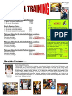 Personal Training Flyer 2010