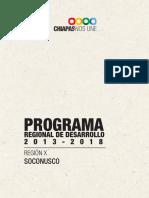 Programa Regional de Desarrollo Soconusco Chiapas
