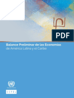 Balance Preliminar de Las Economías