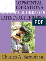Developmental Considerations in the Psychotherapy of Latency-Age Children