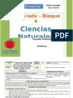Plan 3er Grado - Bloque 4 Ciencias Naturales (2015-2016)