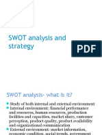 SWOT Analysis and Strategy