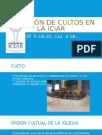 Dirección de Cultos en La ICIAR