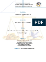 Balanza de Pago Comercio Internacional
