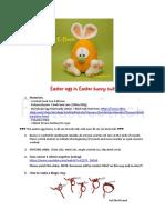 Crochet Pattern Big Easter Egg English