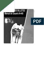 Manual Contadora de BilleresN-440