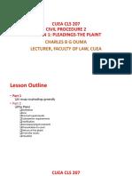 CUEA CLS 207-Lesson 1 Pleadings-The Plaint Full Slides