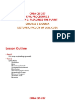 CUEA CLS 207-Lesson 1 Pleadings-The Plaint Full Slides
