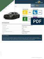 Euroncap 2017 Ford Mustang Datasheet