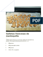 Galletas Francesas de Mantequilla