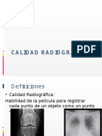 Calidad Radiográfica