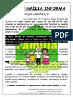 Bolsa Família Informa Fique Atento