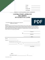 Contractors Affidavit C-242