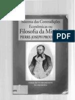 Sistema das contradições económicas ou Filosofia da Miséria -  Proudhon