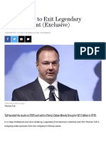 Thomas Tull to Exit Legendary Entertainment (Exclusive) | Hollywood Reporter