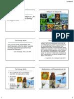 Lecture 1_Concept, Manifestations, Methods, Origin of Life