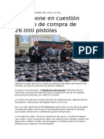 Compra de Pistolas 13 Millones