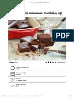Brownie de Leche Condensada, Chocolate y Café