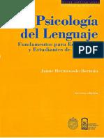 Bermeosolo Bertrán. Psicologia Del Lenguaje. Fundamentos Para Educadores y Estudiantes de Pedagogía