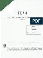 Cuadernillo de Preguntas Tea 1