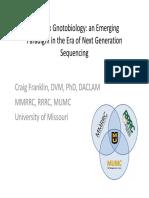 Craig Franklin - Complex Gnotobiology and Next Gen Sequencing