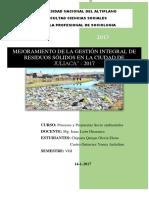 Proyecto de Manejo de Residuos Solidos
