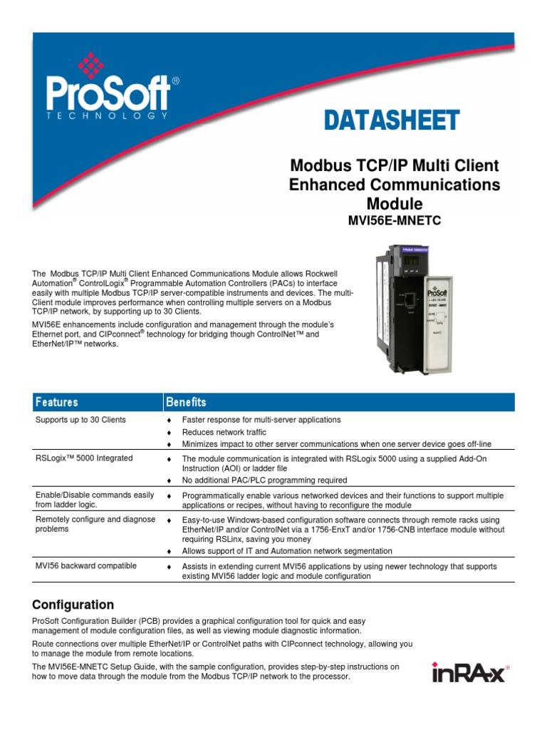 MVI56E_MNETC_Datasheet   Computer Network   Transmission Control