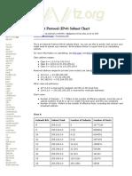 Internet Protocol (IPv4) Subnet Chart