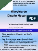 Plan Maestría Diseño Mecánico