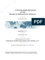 Index of Unpublished Decisions of the Board of Immigration Appeals (2020 ed.)