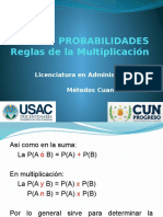 1.2 Multiplicación de Probabilidades