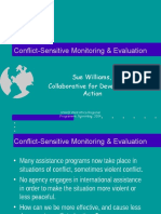 Conflict-Sensitive Monitoring & Evaluation
