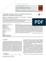 Computational Study on Fused Five Membered Heterocyclic Compounds Containing Tertiary Oxygen
