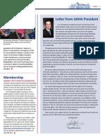UAHA Pres. Ltr- Newsletter Fall 09