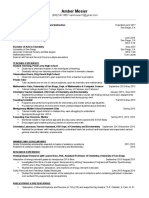 amber mosier-teaching resume