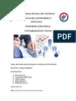 Metodos Del Sistema de Control de Inventarios