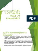 Epistemología de La Tecnología Desde Las Humanidades