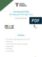 Entrepreneurship 09 Managing Management