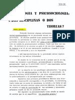 Ibañez, T. (1975) PsicologiaPsicosociologia