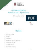 Entrepreneurship 10 Money in the Organisation