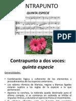 5 Contrapunto - Quinta Especie
