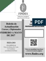 Boletin de Curso de Febrero a Mayo 2017