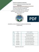 Desarrollo Del Informe Del EPS