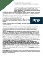 PE License SER Form
