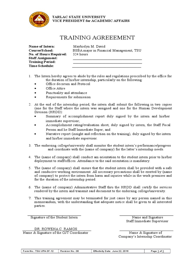 4 Ojttrainingagreementcxfilename Utf 84 Ojt Training