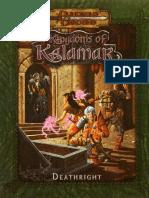 D&D 3.0 - Kingdoms of Kalamar - Deathright