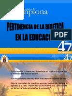 Pertinencia de La Bioetica en La Educacion