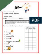 1st grade interest inventory
