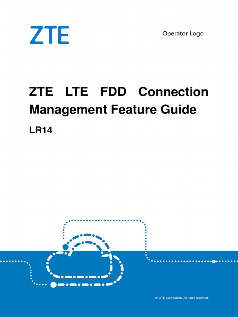 ZTE LTE FDD Connection Management Feature Guide | Telecommunications