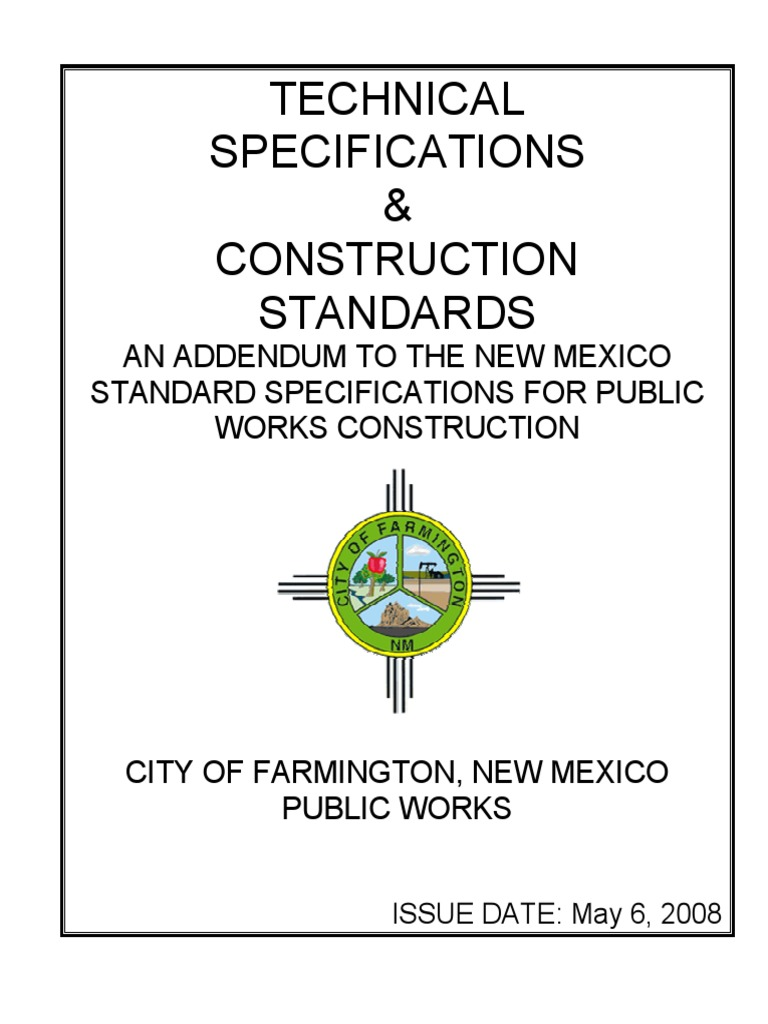 Technical Specifications & Construction Standards